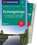 KOMPASS Wanderführer Fichtelgebirge mit Naturpark Frankenwald und Naturpark Steinwald, m. 1 Karte