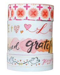 Washi Tapes Design Rot, 4 Rollen