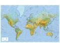 Wandkarte Welt physisch