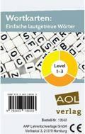Wortkarten: Einfache lautgetreue Wörter - Level 1-3 (Kartenspiel)
