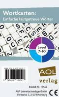 Wortkarten: Einfache lautgetreue Wörter - Level 7-10 (Kartenspiel)