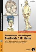 Stationenlernen Geschichte 5./6. Klasse - Inklusionspaket, m. CD-ROM - Bd.1