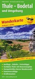 PUBLICPRESS Wanderkarte Thale - Bodetal und Umgebung