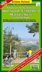 Doktor Barthel Karte Wander- und Radwanderkarte Naturpark Fichtelgebirge, Wunsiedel, Fichtelberg, Marktredwitz und Umgeb