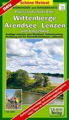 Doktor Barthel Karte Radwander- und Wanderkarte Flusslandschaft Elbe, Wittenberge, Arendsee, Lenzen und Umgebung