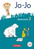 Jo-Jo Mathematik - Allgemeine Ausgabe 2018: 2. Schuljahr - Schülerbuch mit Kartonbeilagen
