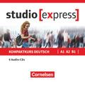studio [express]: Übungsgrammatik A1, A2, B1, 6 Audio-CDs im wav-Format