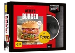 Weber's Burger-Set (Buch + Original Weber Hamburgerpresse)