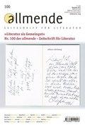 allmende, Zeitschrift für Literatur - Nr.100
