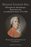 Philosophische Abhandlungen, Rezensionen und unveröffentlichte Briefe (1773-1784)