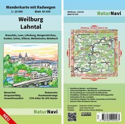 NaturNavi Wanderkarte mit Radwegen Weilburg - Lahntal