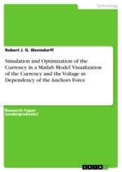 Simulation and Optimization of the Currency in a Matlab Model. Visualization of the Currency and the Voltage in Dependen