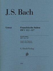 Französische Suiten BWV 812-817, Klavier zu zwei Händen