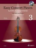 Easy Concert Pieces, Violine und Klavier, m. Audio-CD - Bd.3