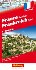 Hallwag Straßenkarte Frankreich Süd 1:600 000