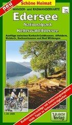 Doktor Barthel Karte Wander- und Radwanderkarte Edersee, Nationalpark Kellerwald-Edersee und Umgebung