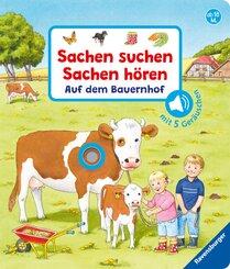 Sachen suchen, Sachen hören: Auf dem Bauernhof, m. Soundeffekten