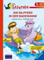 EIN NILPFERD IN DER BADEWANNE - Leserabe 1. Klasse - Erstlesebuch für Kinder ab 6 Jahren