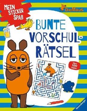 Mein Sticker Spaß - Die Maus: Bunte Vorschulrätsel