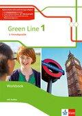 Green Line. Ausgabe 2. Fremdsprache ab 2018: 6. Klasse, Workbook mit 3 Audio-CDs; 1