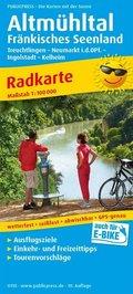 PublicPress Radkarte Altmühltal - Fränkisches Seenland, Treuchtlingen - Neumarkt Opf. - Ingolstadt - Kelheim