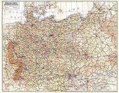Historische Übersichtskarte: VERKEHRSKARTE VON GROSSDEUTSCHLAND 1940