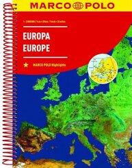 MARCO POLO ReiseAtlas Europa 1:2 000 000