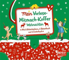 Mein Vorlese-Mitmach-Koffer. Weihnachten, 4 Bde.