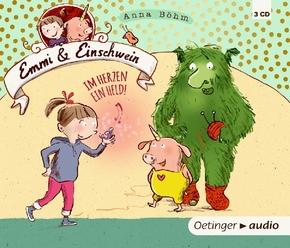 Emmi & Einschwein - Im Herzen ein Held, 3 Audio-CDs