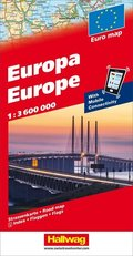 Hallwag Straßenkarte Europa 1:3,6 Mio.
