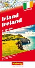 Hallwag Straßenkarte Irland 1:300 000