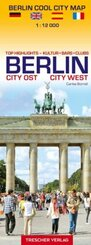Stadtplan Berlin Cool City Map - Top Highlights: Kultur, Bars, Clubs