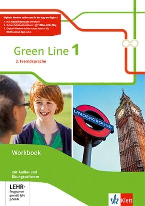 Green Line. Ausgabe 2. Fremdsprache ab 2018: 6. Klasse, Workbook mit Audio-CDs und Übungssoftware