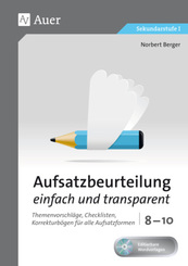 Aufsatzbeurteilung einfach und transparent 8-10, m. 1 CD-ROM