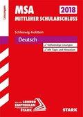 Mittlerer Schulabschluss 2019 - Schleswig-Holstein - Deutsch Lösungen