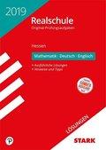 Realschule 2019 - Hessen - Mathematik, Deutsch, Englisch Lösungen