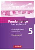 Fundamente der Mathematik, Gymnasium G9, Schleswig-Holstein: 5. Schuljahr, Lösungen zum Schülerbuch