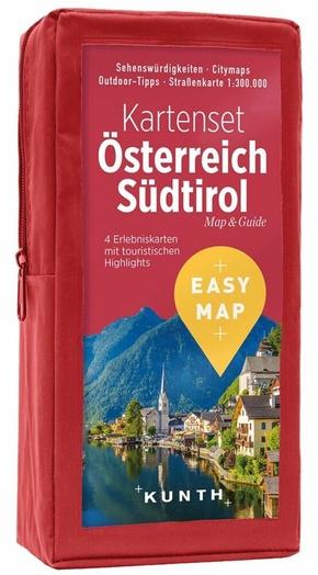 EASY MAP Kartenset Österreich Südtirol, 4 Bl.