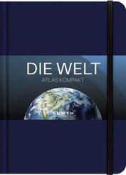 KUNTH Taschenatlas Die Welt - Atlas kompakt, blau