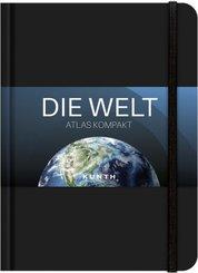 KUNTH Taschenatlas Die Welt - Atlas kompakt, schwarz