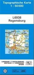 Topographische Karte Bayern Regensburg