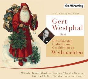 Gert Westphal liest: Die schönsten Gedichte und Geschichten zu Weihnachten, 1 Audio-CD
