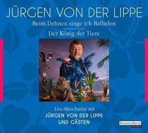 Der König der Tiere & Beim Dehnen singe ich Balladen, 4 Audio-CDs