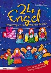 24 Engel unterwegs zum Weihnachtsfest