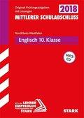 Mittlerer Schulabschluss 2019 - Nordrhein-Westfalen - Englisch 10. Klasse, m. MP3-CD