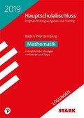 Hauptschule 2019 - Hauptschulabschluss Baden-Württemberg - Mathematik, Lösungen