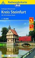 BVA Radwanderkarte Radregion Münsterland Kreis Steinfurt mit 100 Schlösser Route 1:50.000, reiß- und wetterfest, GPS-Tra