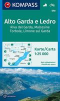 KOMPASS Wanderkarte Alto Garda e Ledro, Riva del Garda, Malcesine, Torbole, Limone sul Garda