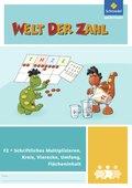 Welt der Zahl - Inklusionsmaterialien: Schriftliches Multiplizieren, Kreis, Vierecke, Umfang, Flächeninhalt; H.F2