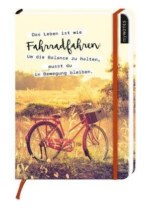 Notizbuch - Das Leben ist wie Fahrradfahren...